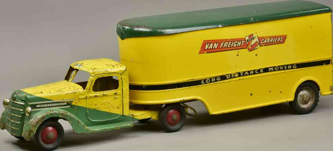 buddy l stahlblech spielzeug umzugswagen gruen gelb