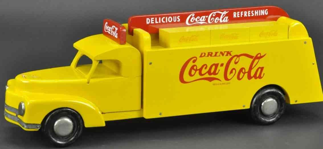 buddy l holz spielzeug auto coca cola lieferwagen