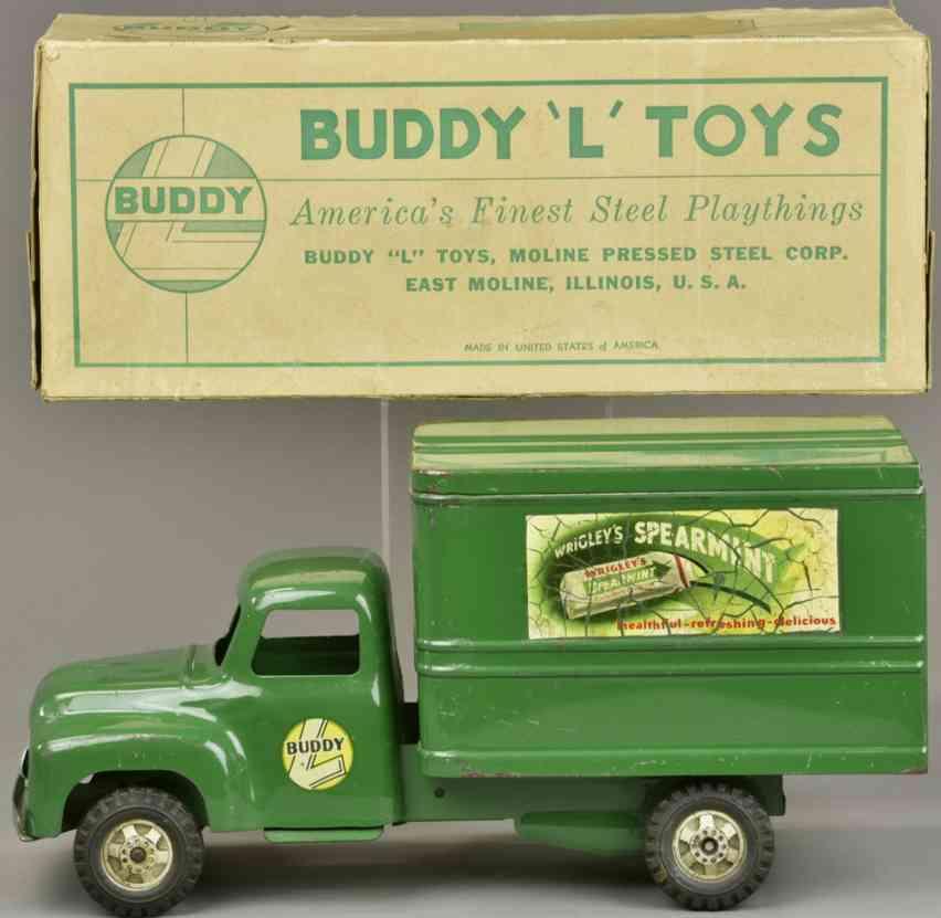 buddy l stahlblech spielzeug wrigleys spearmint lastwagen gruen