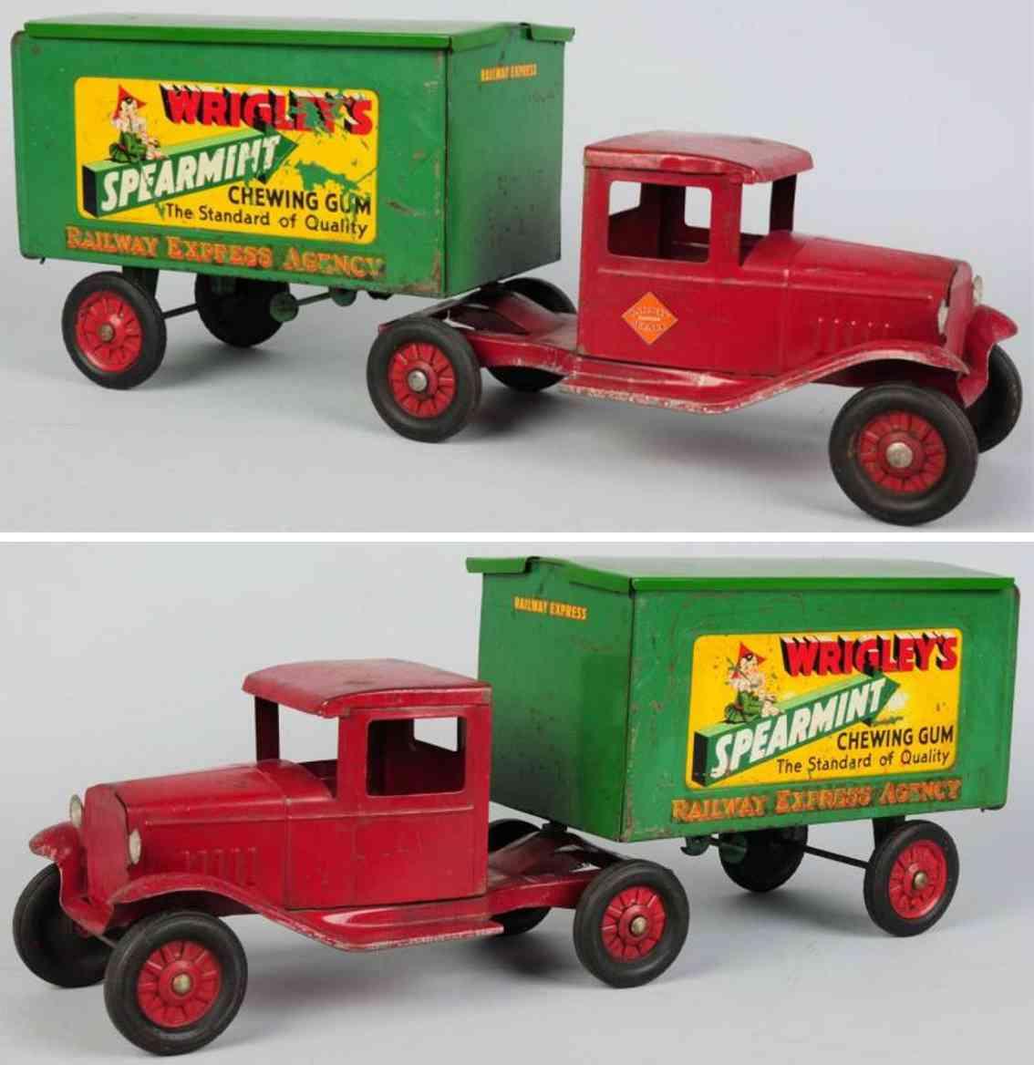buddy l spielzeug stahlblech spielzeug lastwagen wrigley's spearmint