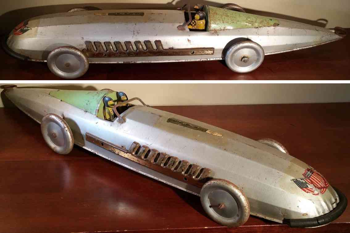 buffalo toys spielzeug rennauto rennwagen silver bullet stahlblech