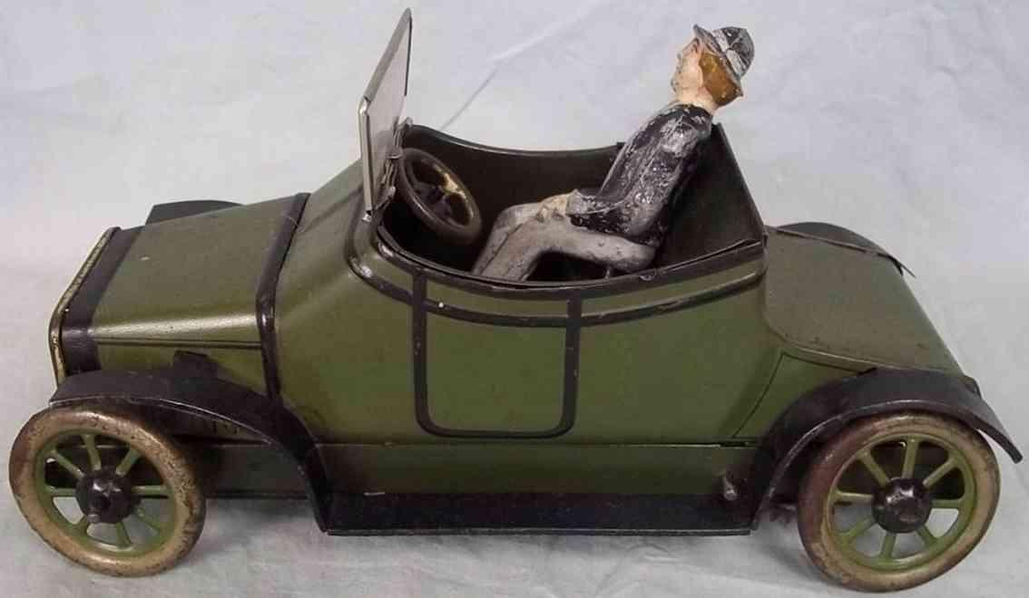 burnett ltd blech spielzeug auto lanchaster auto in olivgrün mit schwarzen streifen und schwa