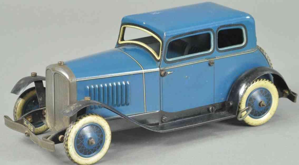 burnett ltd blech spielzeug auto ubilda coupe blau