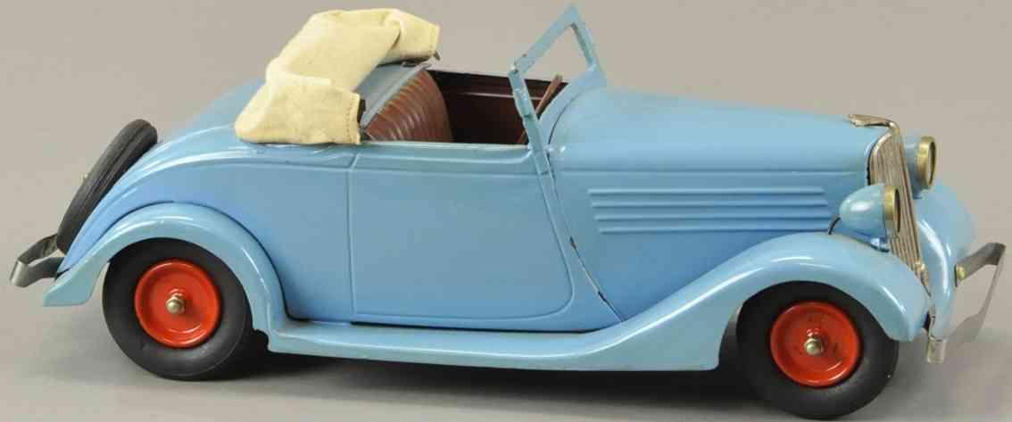 cij blech spielzeug auto viva offenes cabrio blau uhrwerk