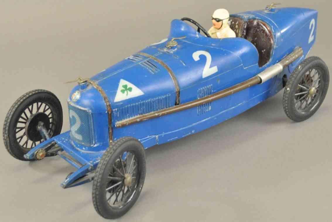 cij blech spielzeug rennauto alfa romeo p2 rennwagen blau