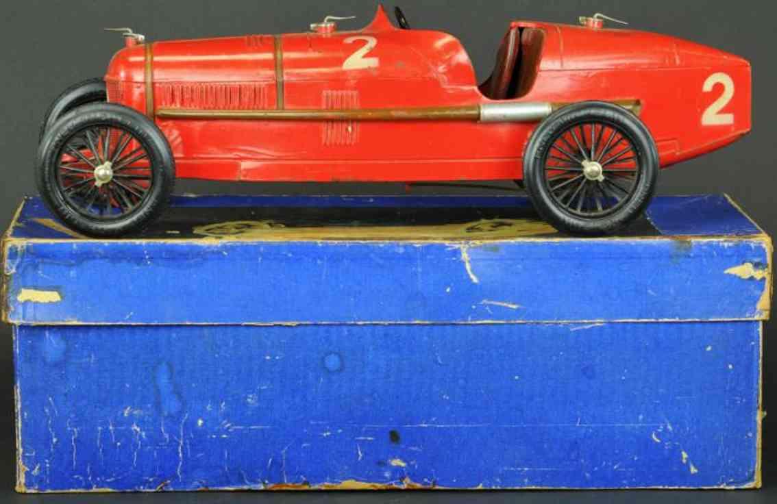 cij tin toy race car p2 alfa romeo red