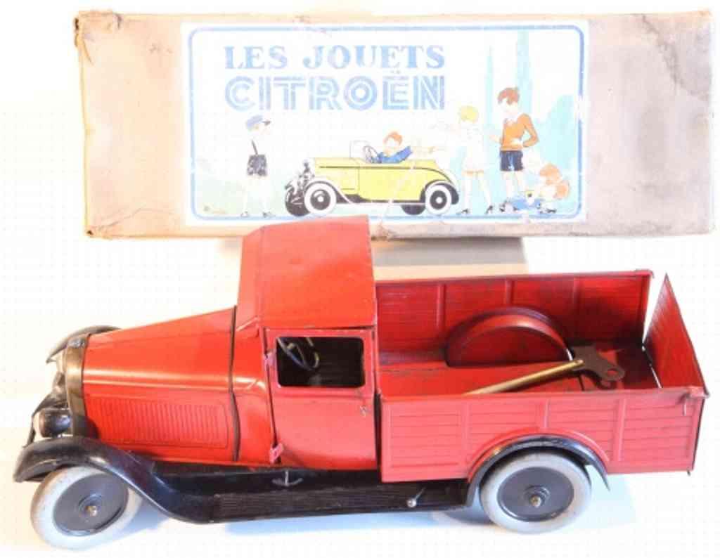 cij tin toy truck les jouets camionette citroen b14 clockwork