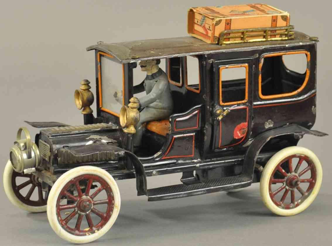carette 3358/41 tin toy car limousine federwerk fahrer