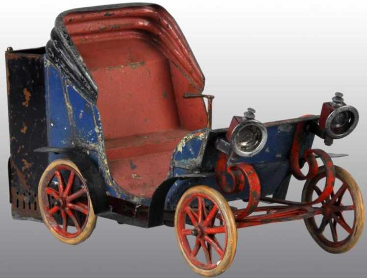 carette tin toy car live steam powered automobile