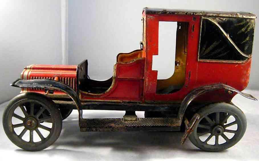 carette 3358/31 blech auto landaulette uhrwerk rot