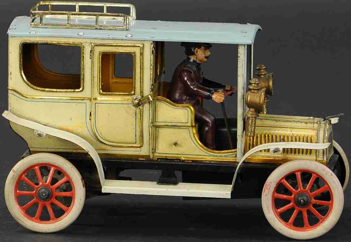 carette tin toy car electric motor limousine battery powered