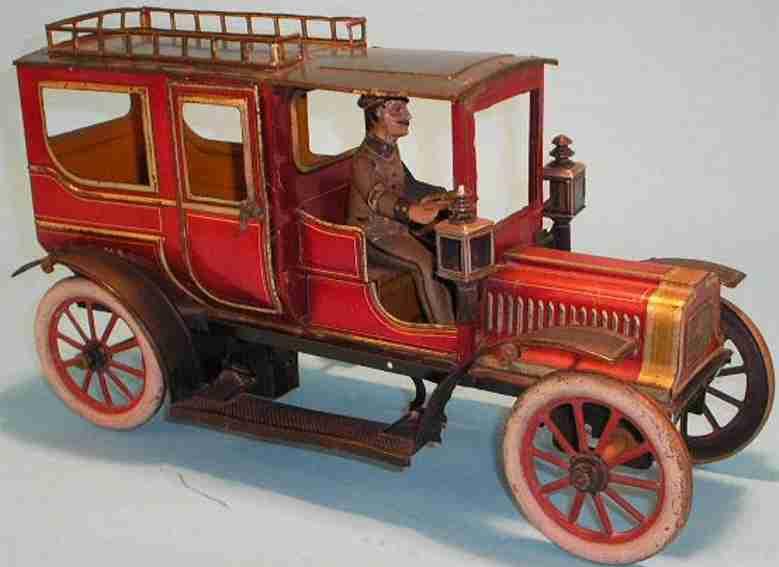 carette 3358/39 blech spielzeug auto limousine rot