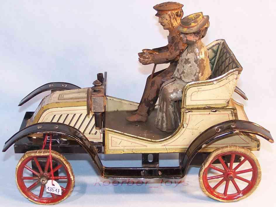 carette blech spielzeug auto touringwagen renault cabrio eige gold