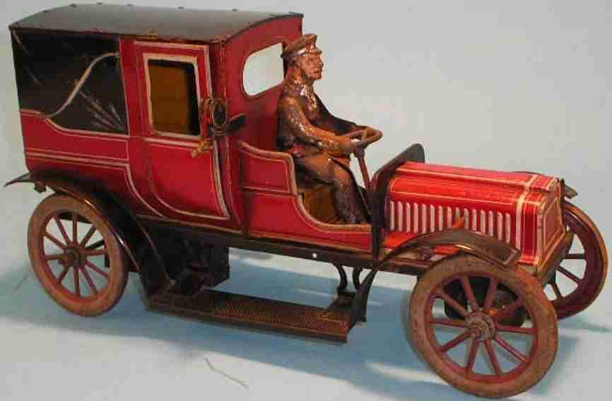 carette 3358/36 blech spielzeug auto taxi uhrwerk chauffeur