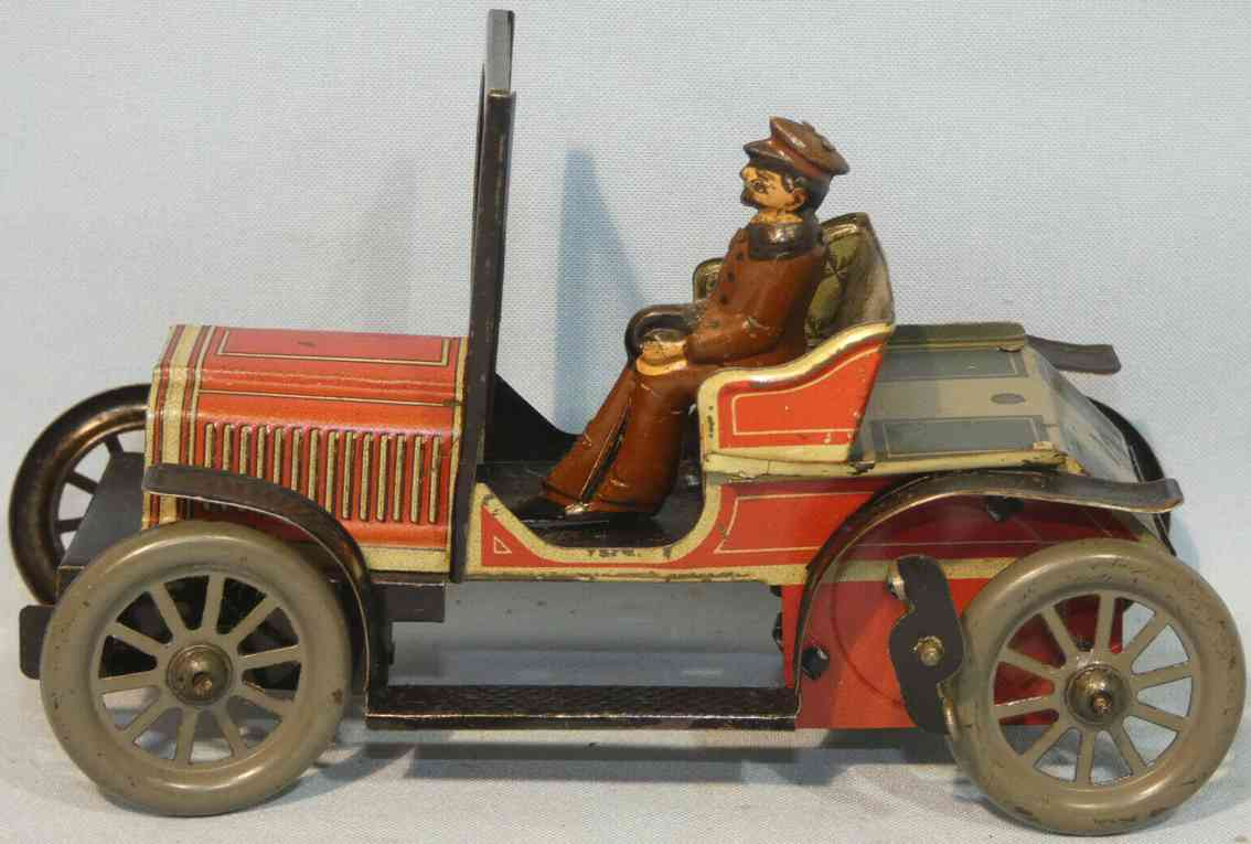 carette tin windup toy car two-seater