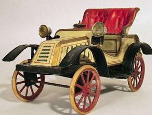 carette tin toy car open car wind-up toy driver