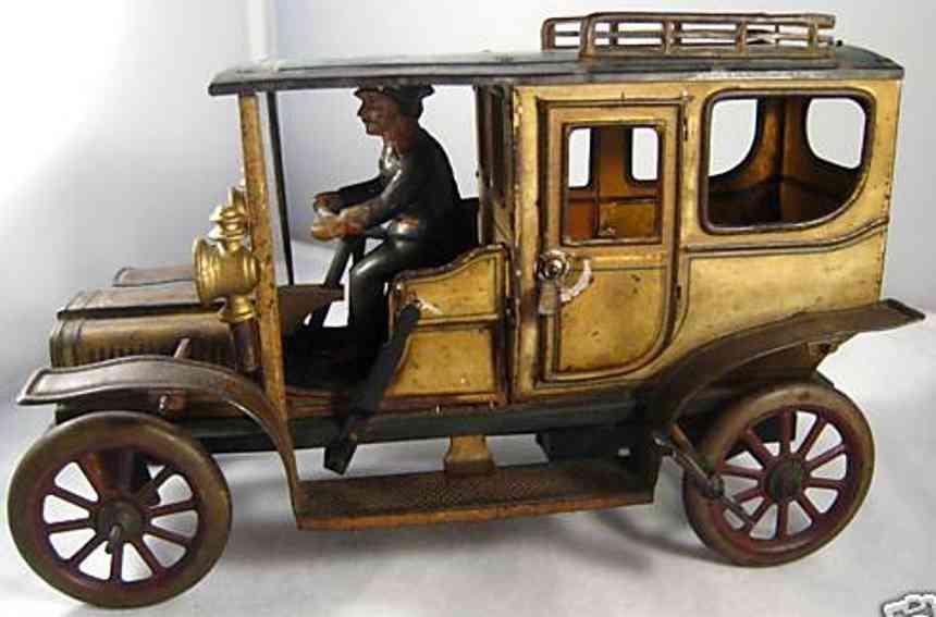 carette 3358/34 blech spielzeug auto limousine fahrer