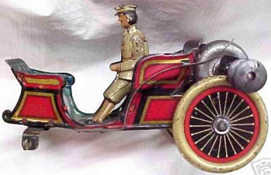 Carette Oldtimer Vis-a-vis Auto mit Uhrwerk