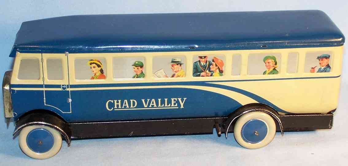 chad valley co ltd. cv 1947 englischer bus blau