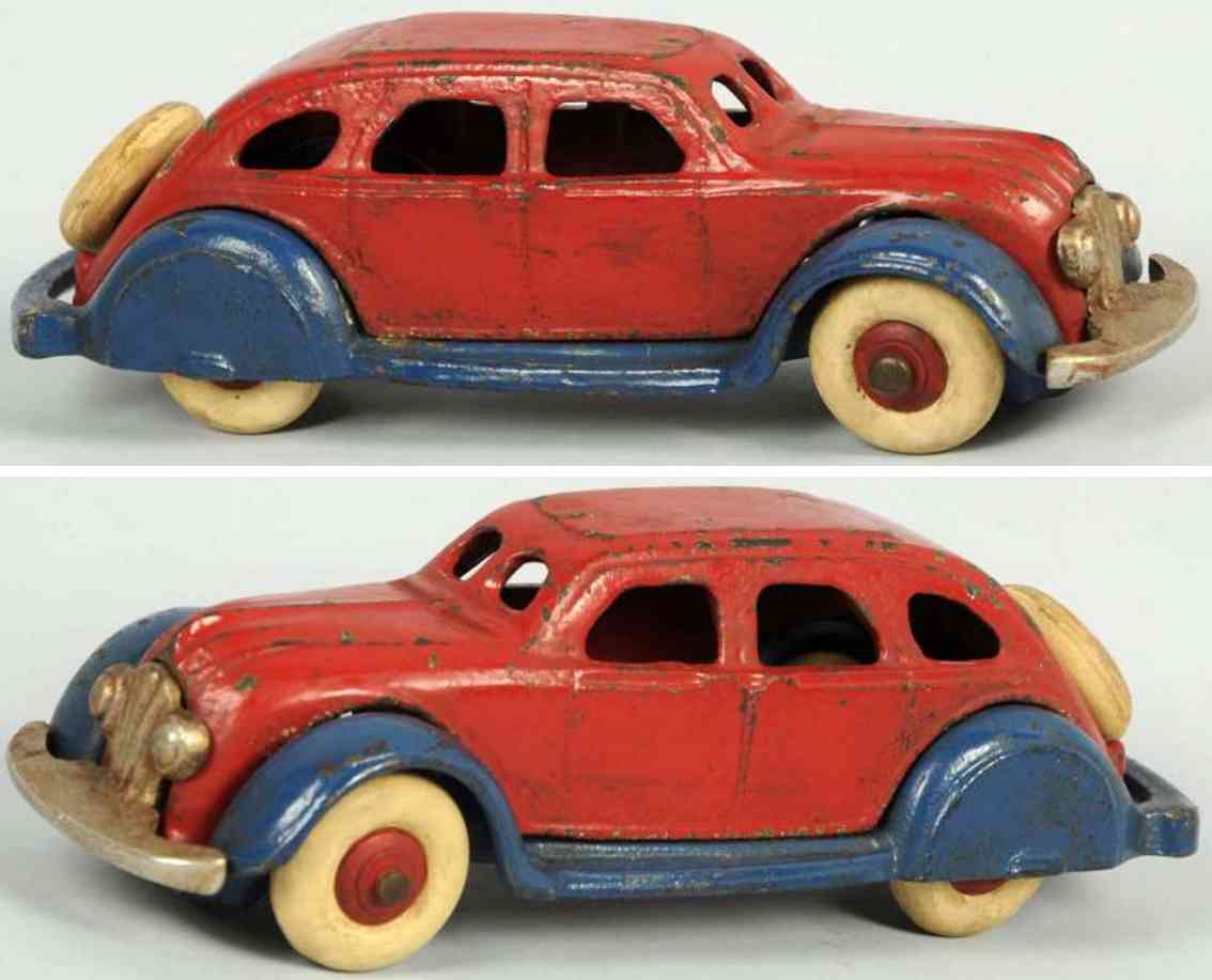 champion hardware company cast iron airflow automobile red blue
