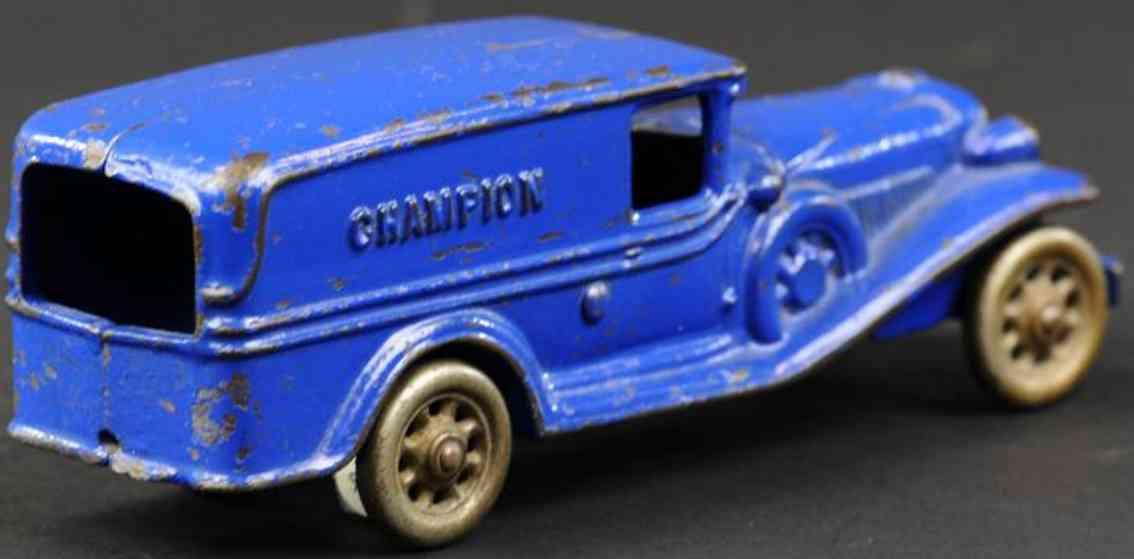 champion hardware co spielzeug gusseisen lieferwagen blau