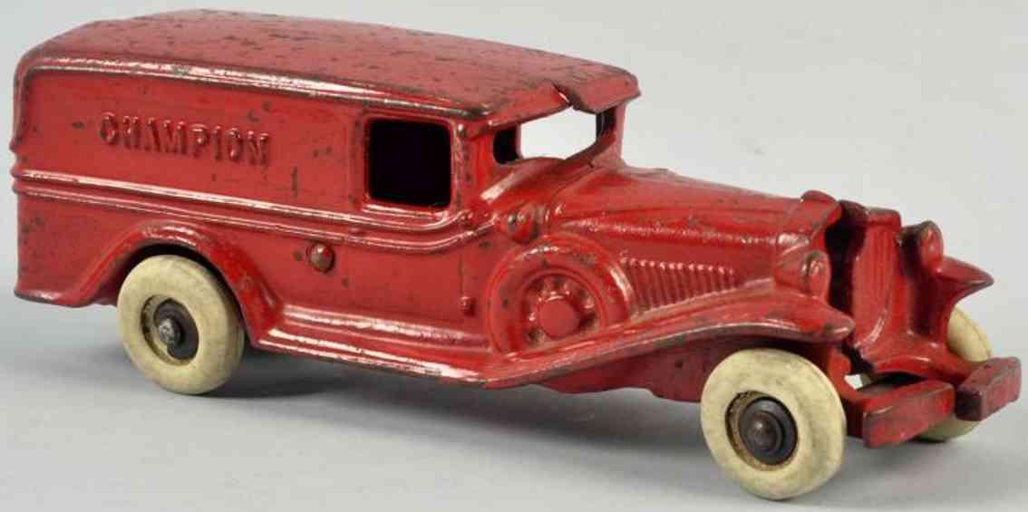 champion hardware co spielzeug gusseisen kastenwagen rot