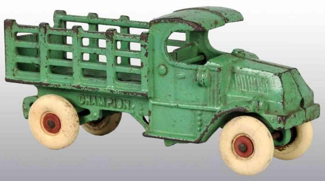 champion hardware co spielzeug gusseisen lastwagen gruen