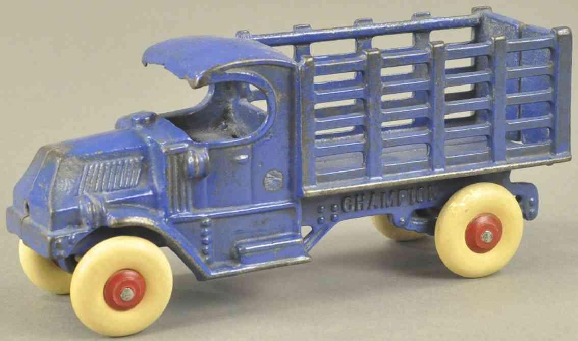 champion hardware co spielzeug gusseisen mack lastwagen blau