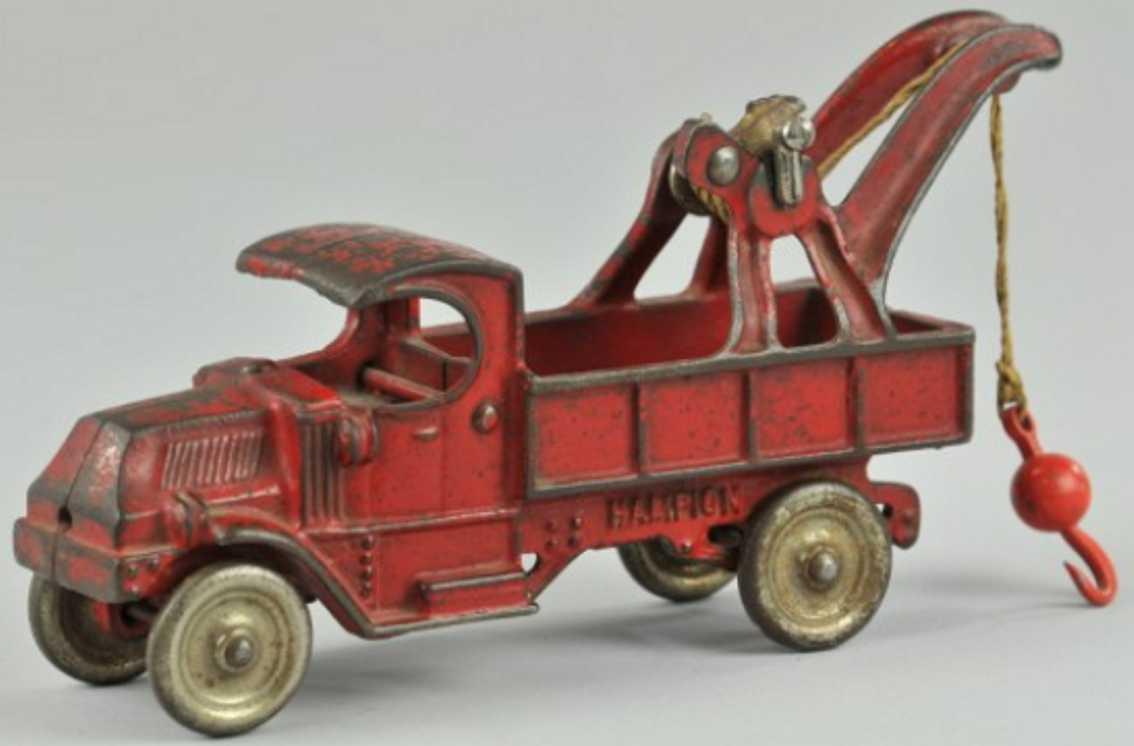 champion hardware company 1929 spielzeug gusseisen abschleppwagen rot