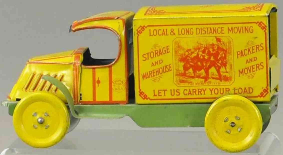 chein co 102 tin toy hercules moving van