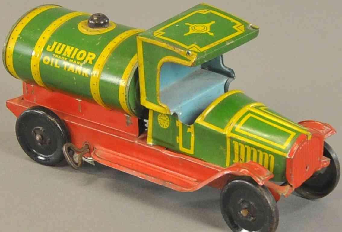 chein co 22 blech spielzeug tanklastwagen gruen gelb rot