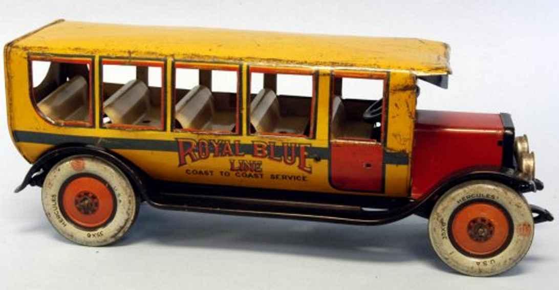 chein co. 550 bus hercules royal blue line orange red