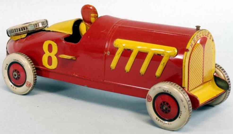 chein co 800 tin toy truck hercules racer open cockpit with driver