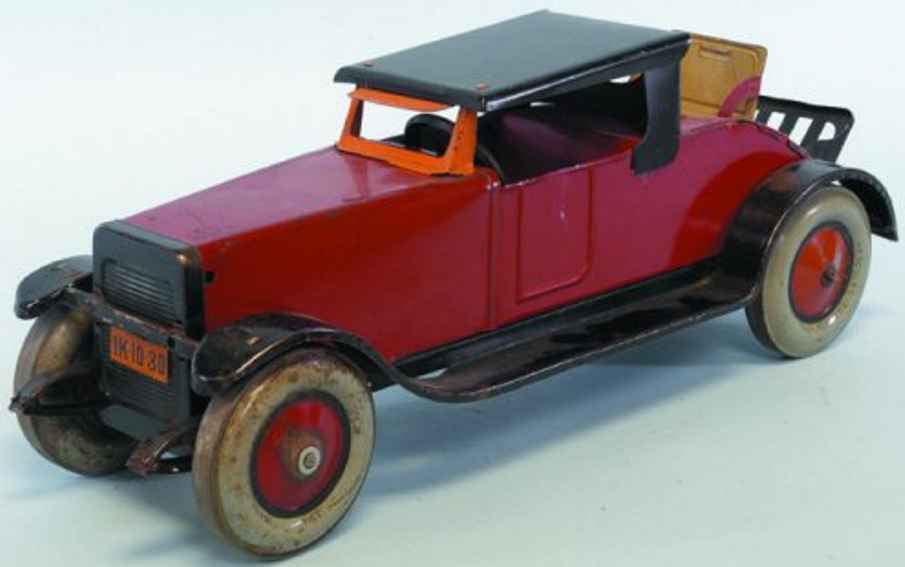 chein co 450 blech spielzeug auto hercules auto mit notsitz rot