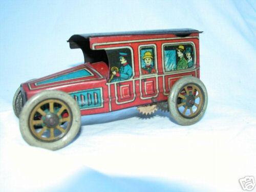 Chein Co. Oldtimer  Reisebus mit Uhrwerk