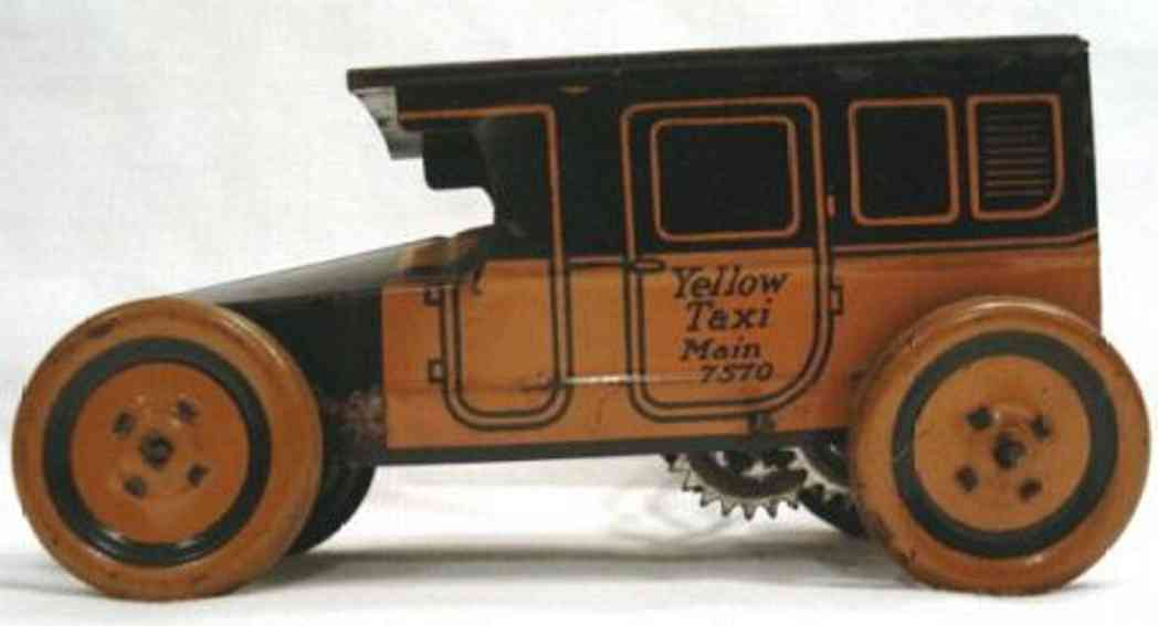chein co. oldtimer yellow taxi 7570