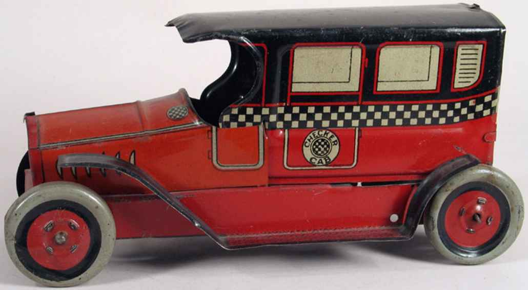 Chein Co. 1924 Oldtimer Taxi in rot