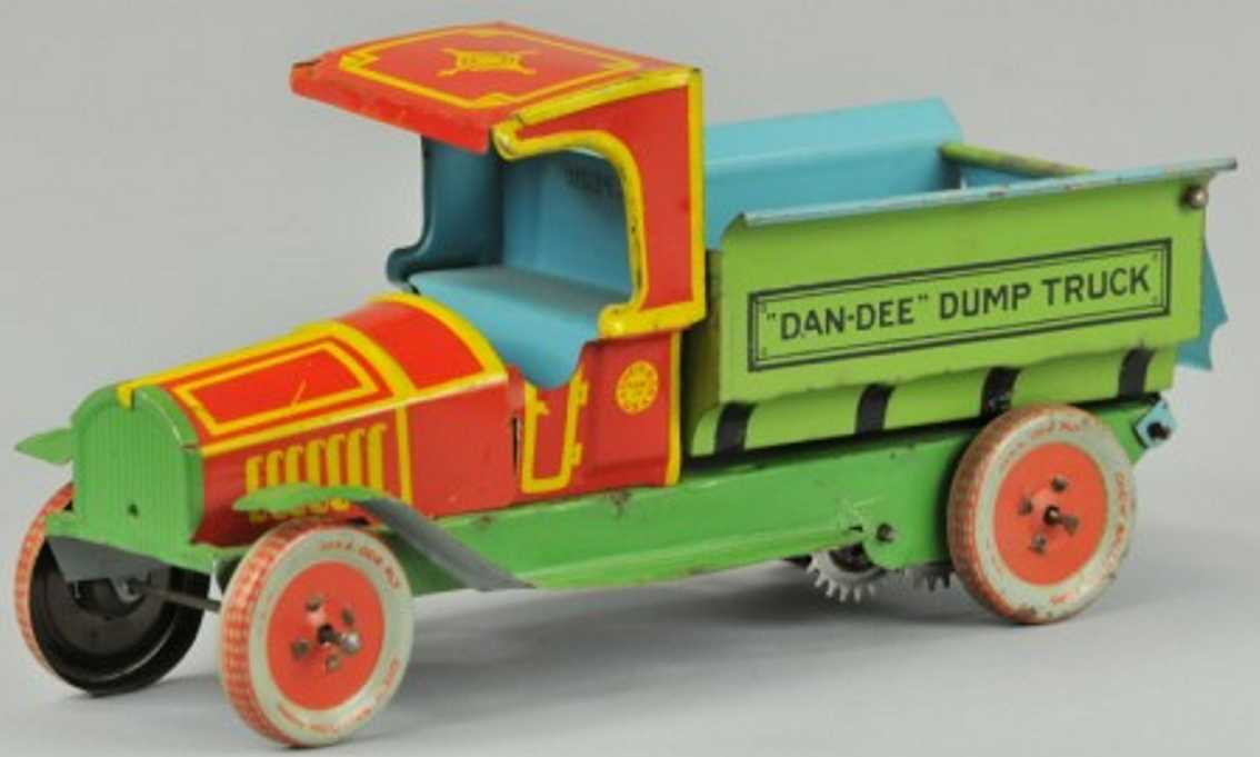 chein co tin toy truck dan-dee dump truck green