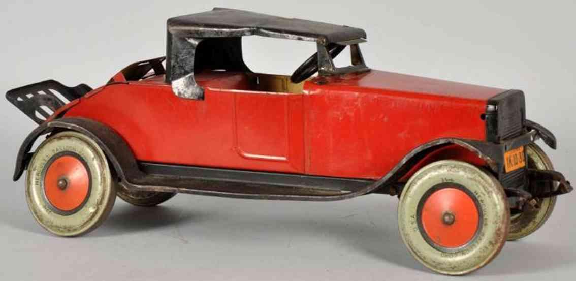 chein co. 450 oldtimer hercules roadster aus stahlblech in rot und schwarz