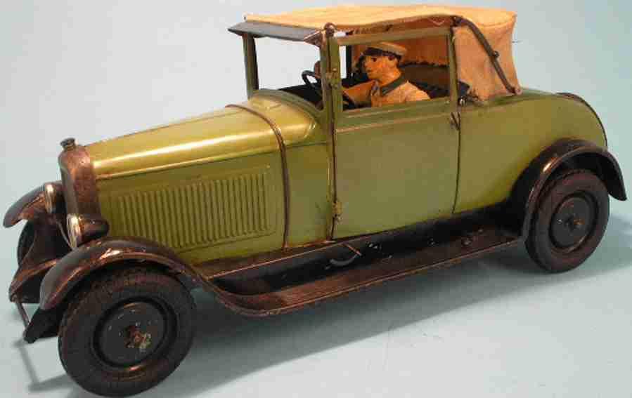 citroen blech spielzeug auto citroen c-6 cabriolet mit uhrwerk und aufschlagbarem dach, f