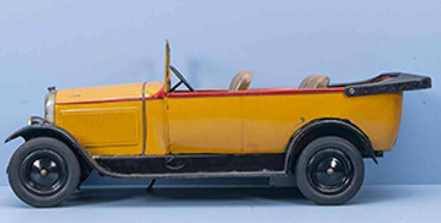 citroen 1513-rj5 blech spielzeug auto offener wagen c6 torpedo serie gelb