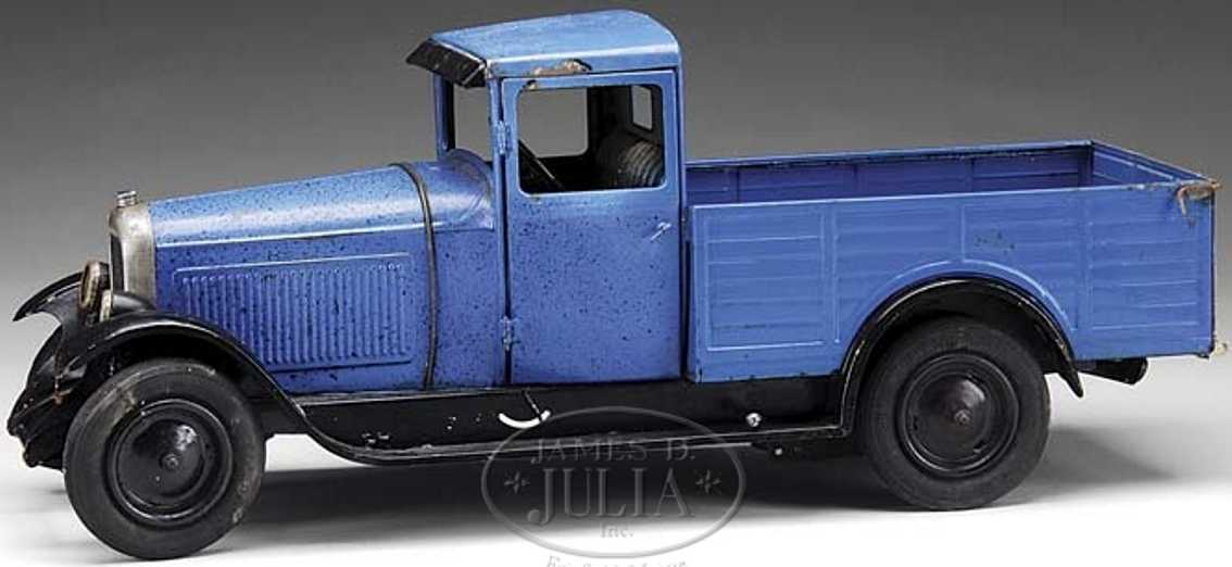 citroen blech spielzeug pick up lastwagen uhrwerk blau
