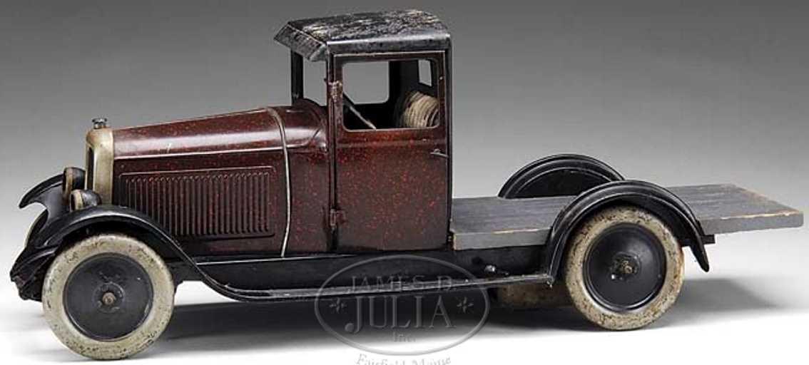 citroen blech spielzeug lastwagen dunkelbraun