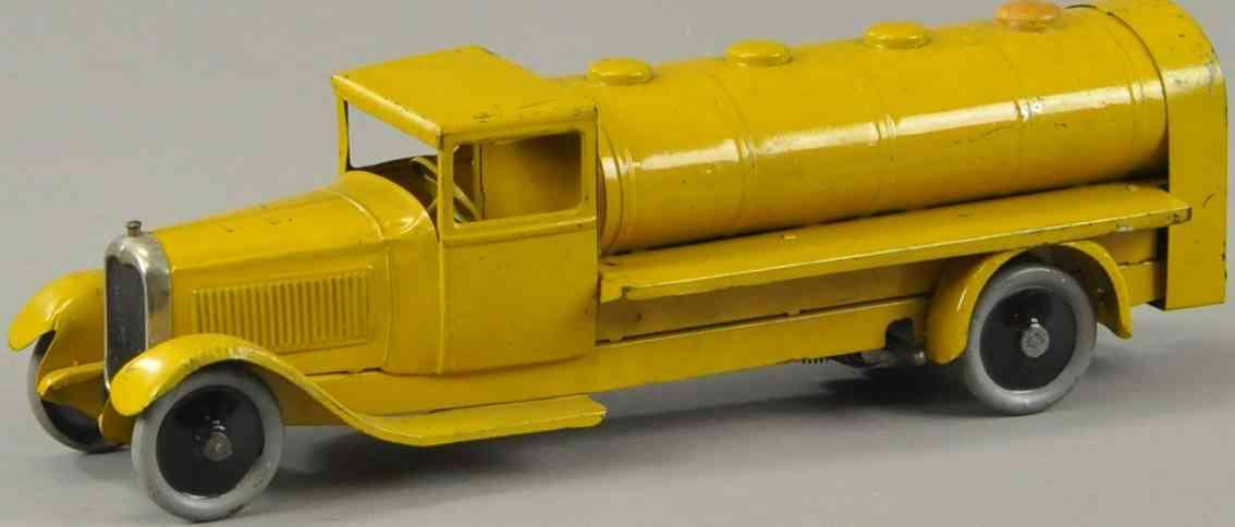 citroen blech spielzeug tanklastwagen gelb uhrwerk