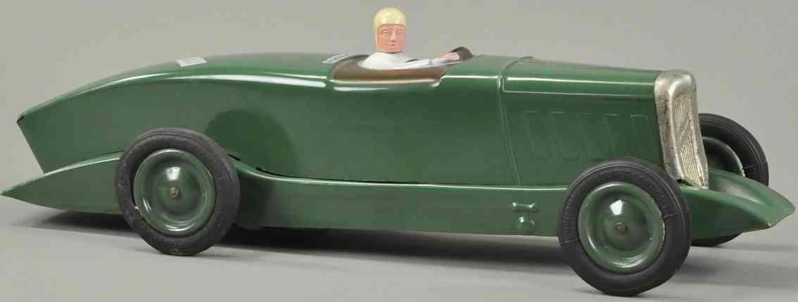 citroen stahlblech spielzeug rennauto rosalie v rennwagen fahrer uhrwerk