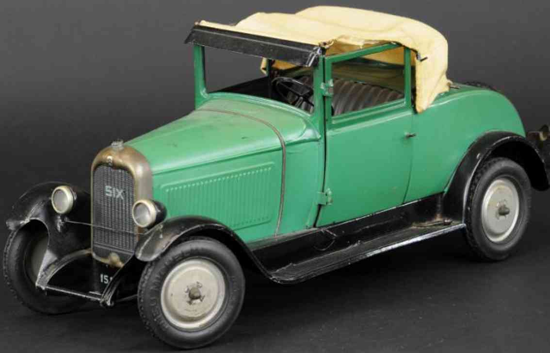 citroen tinplate toy car citroen cabriolet c6 green
