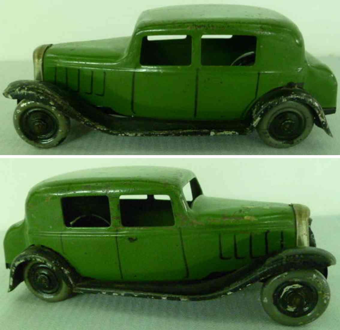 citroen tin toy citroen flywheel car green