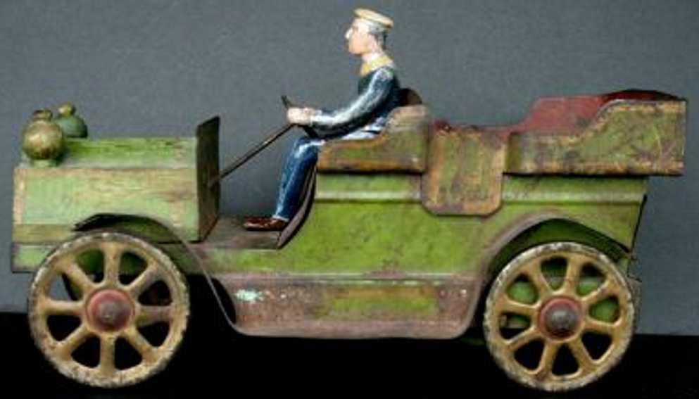 Clark Oldtimer Tourenwagen handbemalt aus Stahl und Holz