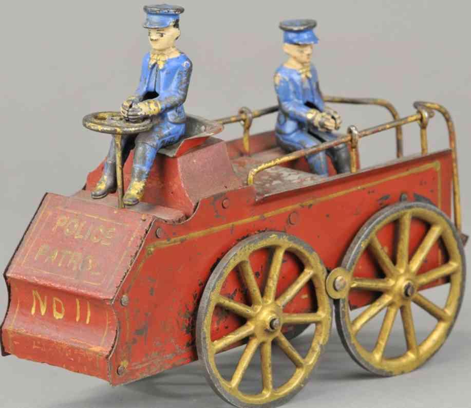 clark dp 11 stahlblech holz spielzeug polizeiauto rot