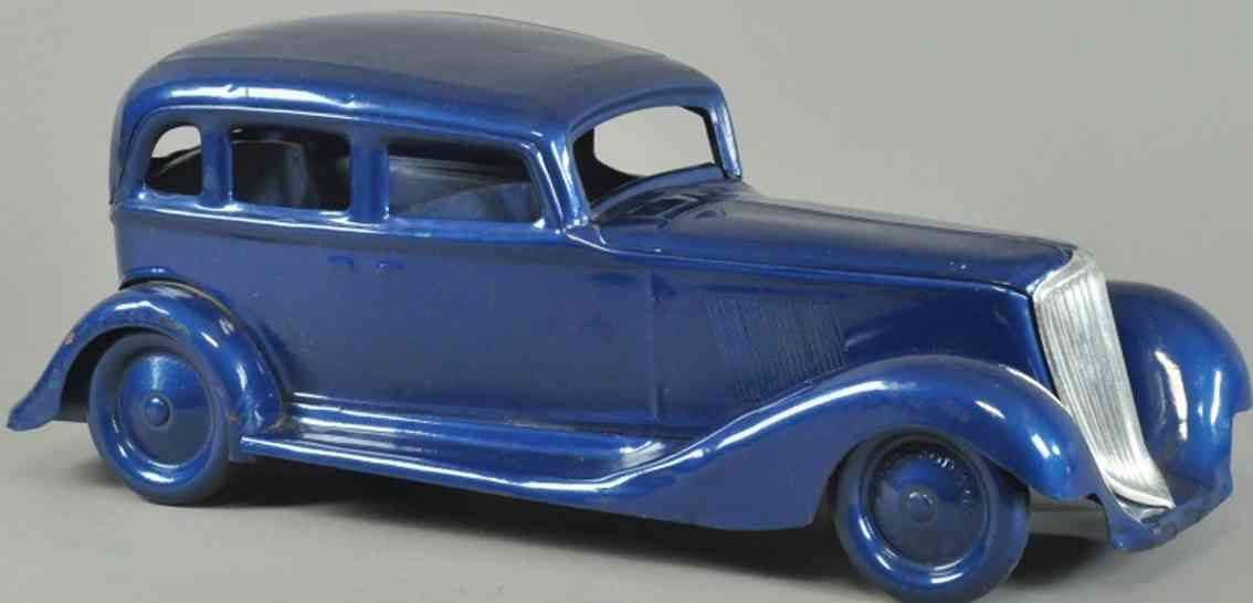 cor-cor toy company toy car graham sedan pressed steel blue